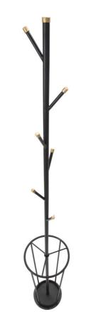 Cuier cu suport pentru umbrele GLAM negru (cm)Ø 26X1765