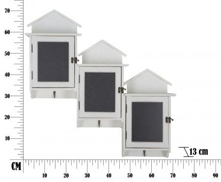 Cuier cu tablita de scris si depozitare CABIN (cm) 83X13X707