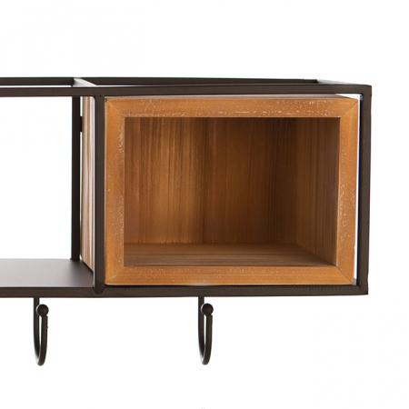 Cuier  HOUSE, lemn/metal, 68x30 cm2