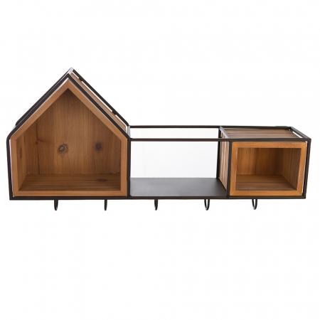 Cuier  HOUSE, lemn/metal, 68x30 cm0