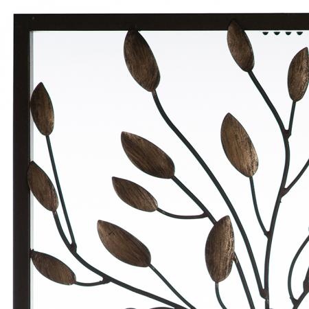 Decoratiune de perete TREE COUPLE, metal, 50x30 cm1