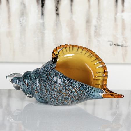 Decoratiune BID SHELL, sticla, 28.5x11x13 cm1