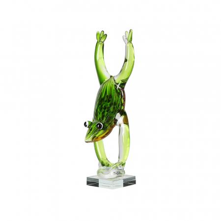 Decoratiune FROGSTAND, sticla, 36x11 cm2