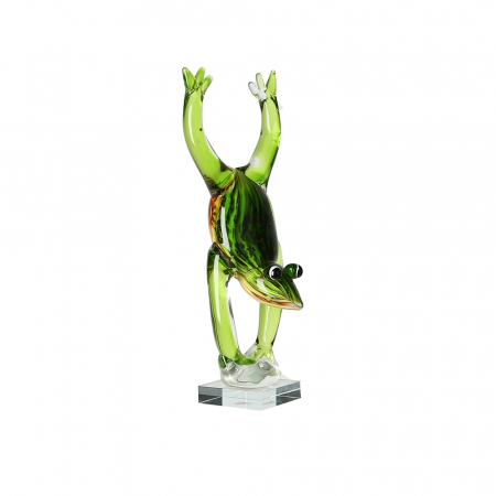 Decoratiune FROGSTAND, sticla, 36x11 cm3