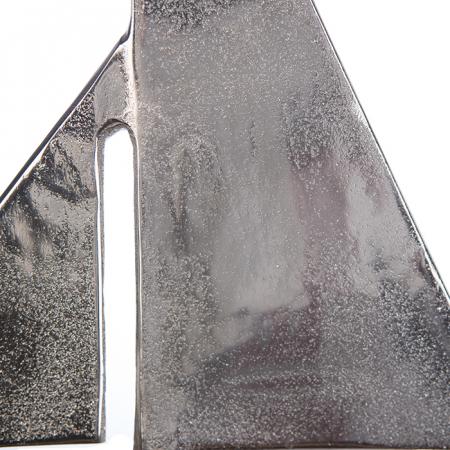 Decoratiune BOAT, lemn/aluminiu, 27x21x7.5 cm2