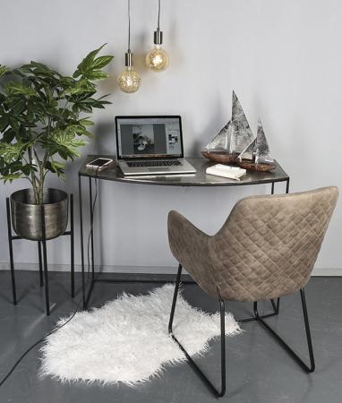 Decoratiune BOAT, lemn/aluminiu, 27x21x7.5 cm1