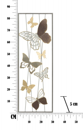 Decoratiune de perete BUTTERFLY SMART -A- (cm) 31X4X89,56