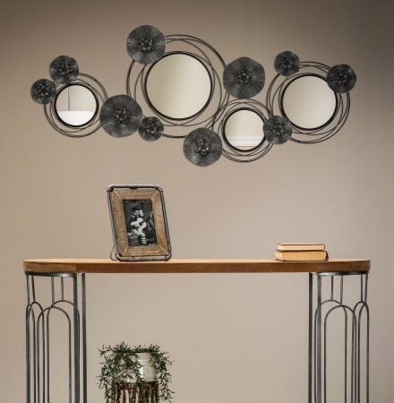 Decoratiune de perete cu oglinda DARK (cm) 117X5,5X496