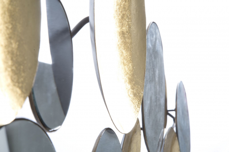 Decoratiune de perete cu oglinda GLAM, Metal/Oglinda, Auriu/Argintiu, 118X2.5X60 cm [4]
