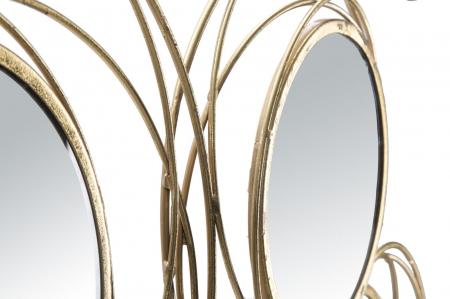 Decoratiune de perete cu oglinda ROUND (cm) 124,5X4X53,53