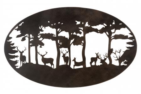 Decoratiune de perete DEER, metal, 90x55 cm1
