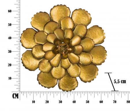 Decoratiune de perete  FIORE GOLDY -A- (cm) Ø 64X5,58