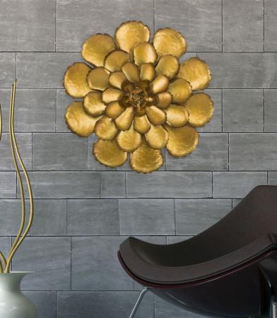 Decoratiune de perete  FIORE GOLDY -A- (cm) Ø 64X5,57
