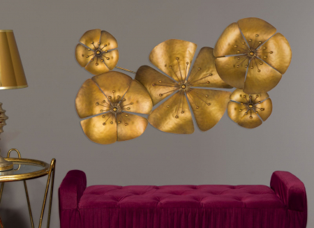 Decoratiune de perete  FLOWER GOLDY -A- (cm) 94X6X507