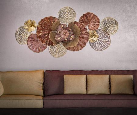 Decoratiune de perete FLOWERY (cm) 118X10X585