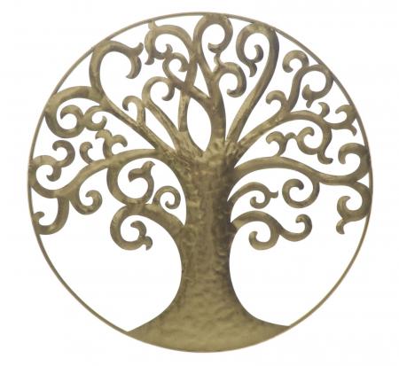 Decoratiune de perete LIFE TREE GOLD GLAM (cm) Ø 70X1,80