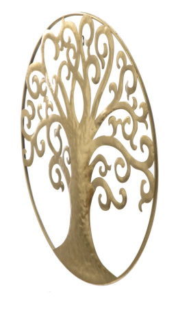 Decoratiune de perete LIFE TREE GOLD GLAM (cm) Ø 70X1,82