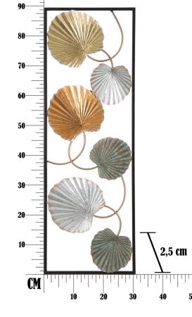Decoratiune de perete  LOPPY -B- (cm) 30,5X2,5X88,56