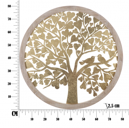 Decoratiune de perete TREE  (cm) Ø 80X2,56