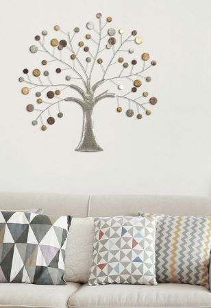 Decoratiune de perete TREE (cm) 88X2,5X885