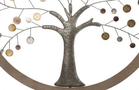 Decoratiune de perete TREE OF LIFE (cm) Ø 80X25