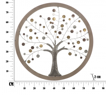 Decoratiune de perete TREE OF LIFE (cm) Ø 80X28