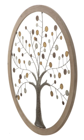 Decoratiune de perete TREE OF LIFE (cm) Ø 80X21