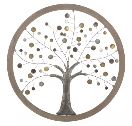 Decoratiune de perete TREE OF LIFE (cm) Ø 80X20
