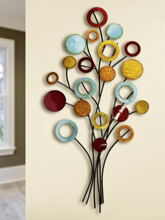 Decoratiune de perete TREE OF LIFE, metal, 51x97x4 cm0