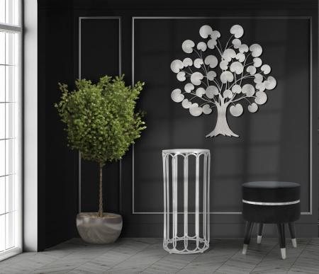 Decoratiune de perete TREE OF LIFE  SILVER (cm) 87,5X3,5X937