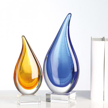 Decoratiune DROP, sticla, 30x13x8 cm1