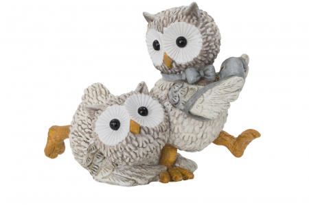 Decoratiune OWL KEN COUPLE (cm) 10,5X7X8,51