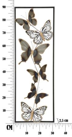 Decoratiune pentru perete BUTTERFLIES, 31X2.5X90 cm, Mauro Ferretti [8]