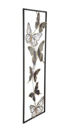 Decoratiune pentru perete BUTTERFLIES, 31X2.5X90 cm, Mauro Ferretti [1]