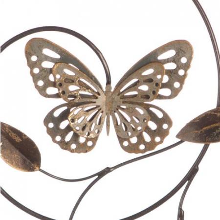 Decoratiune pentru perete Farfalle, gri/maro/ auriu, 50 cm1