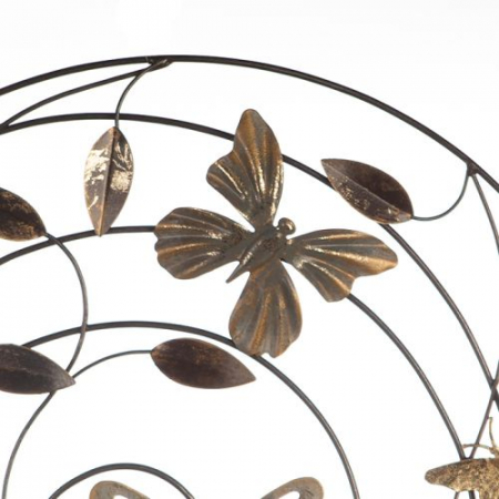 Decoratiune pentru perete Farfalle, gri/maro/ auriu, 50 cm3