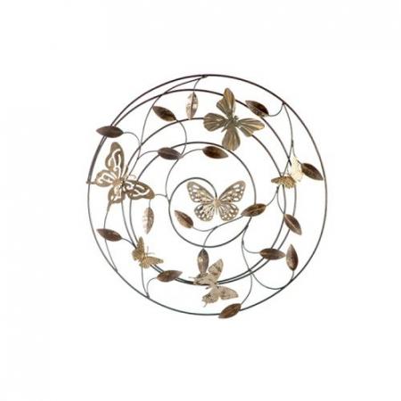 Decoratiune pentru perete Farfalle, gri/maro/ auriu, 50 cm0