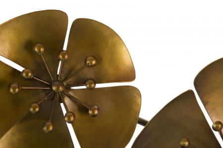 Decoratiune pentru perete FLOWER GOLDY, 80X6X57 cm, Mauro Ferretti3