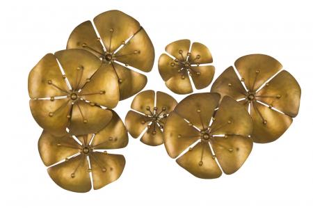Decoratiune pentru perete FLOWER GOLDY, 80X6X57 cm, Mauro Ferretti0