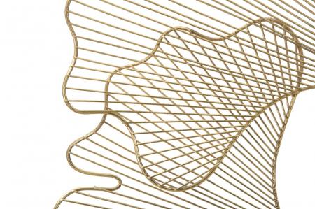 Decoratiune pentru perete GLAM LEAF, 79X5X68 cm, Mauro Ferretti [1]