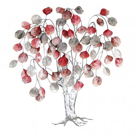 Decoratiune de perete LOVE TREE, metal,  80x10x72 cm0