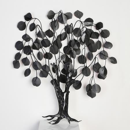 Decoratiune de perete LOVE TREE, metal,  80x10x72 cm3