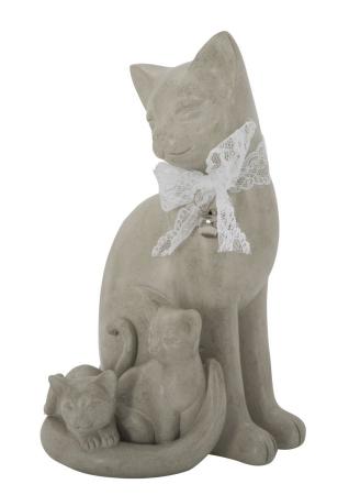 Decoratiune pisica CAT FAMILY(cm) 12,5X11,5X20,54