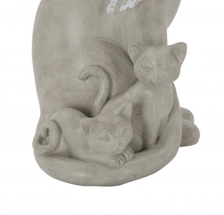 Decoratiune pisica CAT FAMILY(cm) 12,5X11,5X20,53
