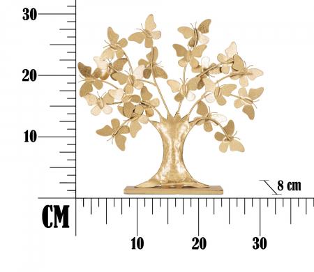 Decoratiune TREE  GLAM WITH BUTTERFLY CM 31X8X30, Mauro Ferretti [6]