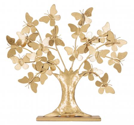 Decoratiune TREE  GLAM WITH BUTTERFLY CM 31X8X30, Mauro Ferretti [0]