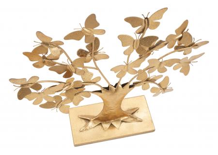 Decoratiune TREE  GLAM WITH BUTTERFLY CM 31X8X30, Mauro Ferretti [5]