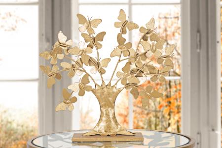 Decoratiune TREE  GLAM WITH BUTTERFLY CM 31X8X30, Mauro Ferretti [1]