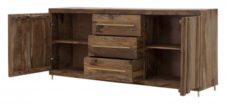 Dulap 2 usi si 3 sertare ELEGANT, lemn masiv sheesham, 175X45X80 cm, Mauro Ferretti5