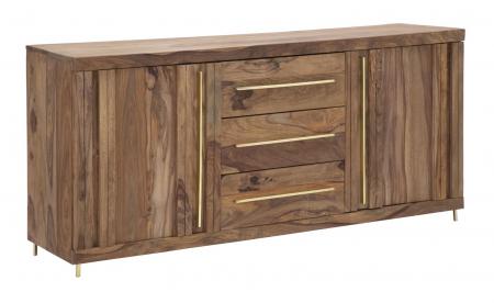 Dulap 2 usi si 3 sertare ELEGANT, lemn masiv sheesham, 175X45X80 cm, Mauro Ferretti0